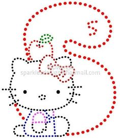 S T U   Alfabet Hello Kitty 2 by Dwergje   glittermotifs