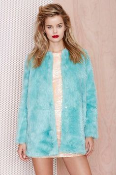 Candy Flip Faux Fur Coat | Shop Sale at Nasty Gal I honestly only want this so it can match my alpaca ear muffs