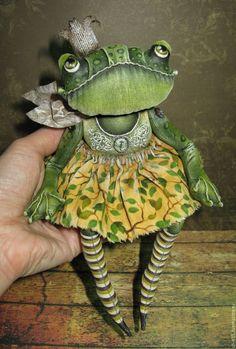 Купить Царевна-лягушка (2) - зеленый, лягушка в подарок, лягушка, принцесса, царевна-лягушка