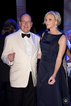 01 AUGUST 2014 Red Cross Ball 2014 Prince Albert and Princess Charlene attended the 66th Monaco Red Cross Ball Gala at Sporting Monte-Carlo in Monaco.