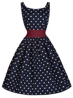 Lindy Bop 'Lana' Vintage Fifties Inspired Polka Swing Dress   Amazon.com