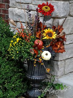 Serendipity Refined: Fall Planters and Urns