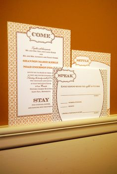 Shannon and Noah's wedding invitations with a little canine humor.