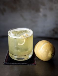 Indian Summer: Small handful of mint, 4 small pieces pineapple, ½ ounce lemon juice, ½ ounce simple syrup, ½ ounce green Chartreuse, 1 ½ ounces Plymouth gin.  Recipe by Joe Raya of The Gin Joint in Charleston, South Carolina