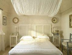 DIY Vintage Kopfteil für Ihr Bett selber machen weiße einrichtung