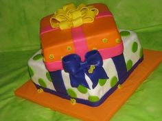 - Cake for a first Birthday-her dad picked the theme-presents!