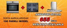 Ankastre setler 899TL'den başlayan fiyatlarla.