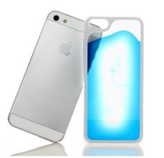 iPhone 5, 5s Fluorescent case, cover, hoesje blauw