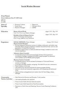 social work resume examples social worker resume sample