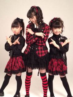 BABYMETAL in the begining stages.