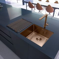 Caple Mode 45 Single Bowl Kitchen Sink in #Copper
