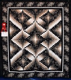 I made this Diamonds Jubilee Bargello Quilt to commemorate my 20th Wedding Anniversary.  This quilt took 2nd place in Jacksonville and also in Tampa when it was entered into the quilt show contest.