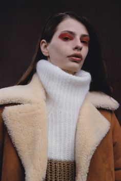 Oyster Beauty: 'Van Diemen's Land' Shot By Bowen Arico, red eyes and brown lips for fall