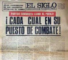 El diario El Siglo daba cuenta el 7 de septiembre de los rumores de golpe y el llamado a tomar medidas en caso de que este llegara. Foto: Gentileza
