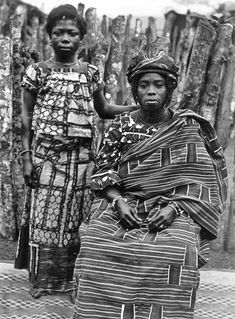 """Africa   """"Young beauties dressed up"""".  Ghana.  ca. 1901/1906    ©Historical Photographs from the Basel Mission"""
