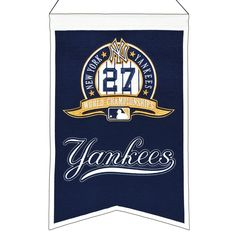 MLB Baseball New York Yankees 14x22 Heavy Wool with Embroidery Sport Team Logo 27 Time World Series Champions Banner #2019 -- Awesome products selected by Anna Churchill
