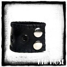 punk rocker cuff by Kim Rose on Etsy by Kim Rose on Etsy #bicycle #punk #gearhead #punkfashion #studdedcuff #rubber