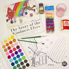 supplies for the kindness elves craft