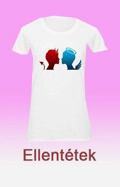 Angyal-Ördög egyedi női pólók neked  Angyalos női póló   Angyalos női pólók    f4dbecabd5