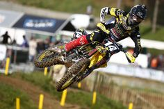 Max Anstie in action on his Rockstar Energy Suzuki RM-Z250 in the World Motocross Championship round at Ernee, France #MX