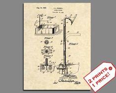 Official 1891 Kochs Barber Chair Patent Art Print Antique Vintage Shave Cut 487