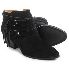 FRANCO SARTO Gonzalez Fringe Ankle Boots sz 8 Black Western Boho Chic NWB MSP120 #FrancoSarto #AnkleBooties