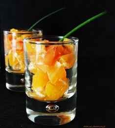 verrine de saumon orange