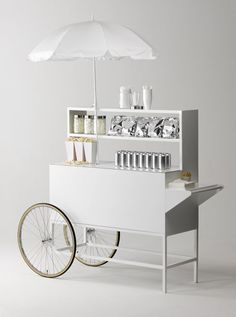 Image result for food cart push white
