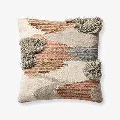 PILLOWS | Loloi Rugs Ed Ellen Degeneres, Cool Rugs, Toss Pillows, Brown And Grey, Wool, Pattern, Crafts, Cotton, Ivory