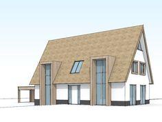Modern landelijke villa met rieten kap - 3D (2)