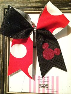 Mickey Mouse cheer bow by BowChicAccessories on Etsy