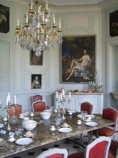 alle à manger du château du XVIIIème (Domaine de Villarceaux)