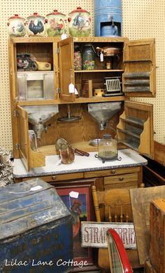 hoosier cabinet  I will have one ! One day