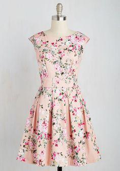 1396d2a12d5 Fluttering Romance Dress in Blossoms. Ah