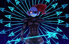 The magical spear thrower by aimturein.deviantart.com - Undyne, Undertale