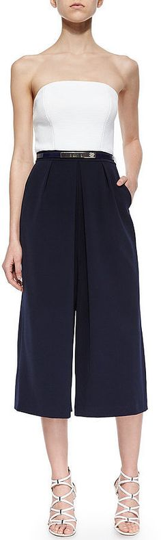 The 1 Wear-Now Jumpsuit That Also Works For Fall: Gone are the days of tapered pants and the struggle of tucking our skinny jeans into boots.