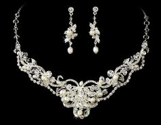 jewerly perhaps more extravagant then simple pearls