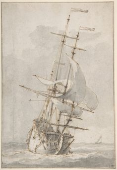 Ludolf Bakhuizen, A Ship at Sea, mid-17th to early 18th century -