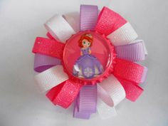 Sofia the First loopy flower hair bow by AllThingsGirlyBows, $5.50
