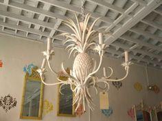 Tole Pineapple Chandelier