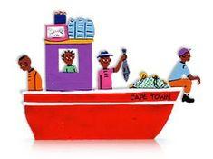 Boat - Tin Art Fridge Magnet by GoodiezOnline on Etsy