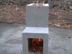 Simple build for an efficient Cinder Block Rocket Stove. These burn hotter and m… Simple build for an efficient Cinder Block Rocket Stove. These burn hotter and more efficiently than a camp fire and can use just about anything as fuel. Camping Survival, Survival Tips, Survival Skills, Camping Hacks, Bushcraft Camping, Diy Camping, Camping Stuff, Emergency Preparedness, Survival Stove