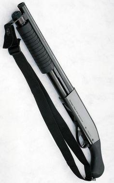 Remington 870 shotgun.