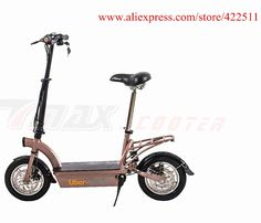 2016  New 300W 36V Hub-motor Electric Scooter/Bike 12AH Lead Acid Battery 2 Wheel Electric Scooter with Seat