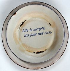 Lovely ceramic plates with meaningful words by Mervyn Gers Ceramics, Cape Town - South Africa