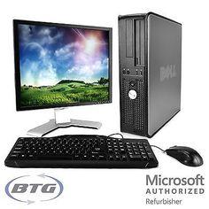 100 Lot of Dell Optiplex Desktop Computer Windows 10 3.0GHz Core2Duo 4GB RAM DVD