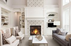 2021 Wall Tile Trends: 11 Ideas for Stylish Accent Walls - Flooring Inc Subway Tile Fireplace, Marble Fireplace Surround, Home Fireplace, Fireplace Remodel, Marble Fireplaces, Fireplace Surrounds, Fireplace Design, Fireplace Ideas, Bedroom Fireplace