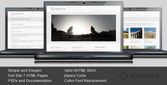 Elegance - Simple and Elegant HTML Template