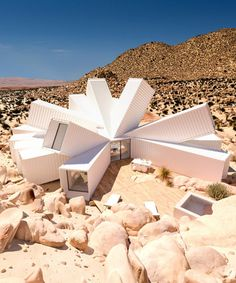 whitaker studio's joshua tree residence conglomerates a cluster of shipping containers
