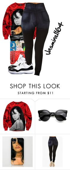 """Aaliyah~Back And Forth "" by jasmine1164 ❤ liked on Polyvore featuring NIKE"